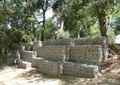 Gaviones, proyecto con gaviones, Collserola
