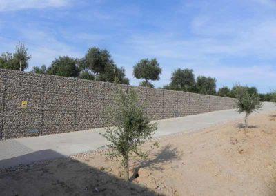 Gaviones, proyecto con gaviones, Almazara Aviyonet