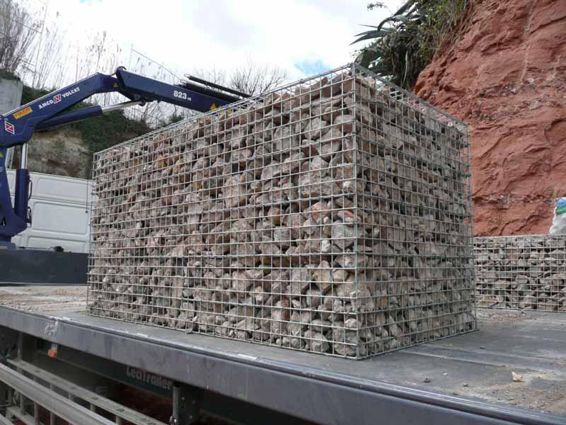 Gaviones, proyecto con gaviones, muros de gavion