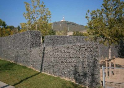 Gaviones, proyecto con gaviones, Can Rigal