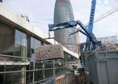 Gaviones, proyecto con gaviones, Ciutat del Disseny