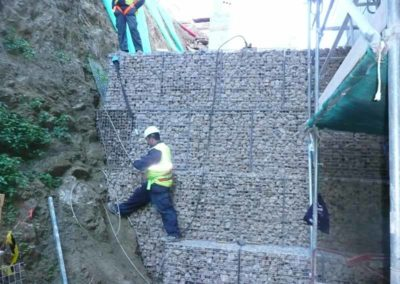 Gaviones, proyectos con gaviones, muros de gavion, CAP Camel Novantia