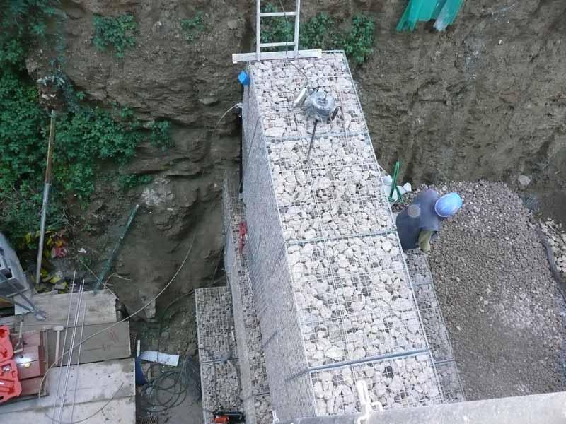 Gaviones, proyecto con gaviones, jaulas de piedra compactadas