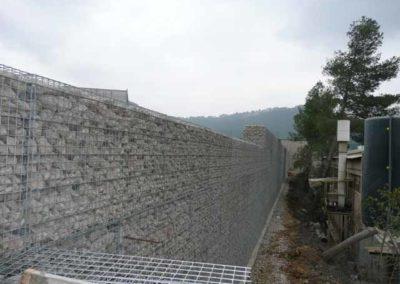 Gaviones, proyecto con gaviones, Muro con geomalla