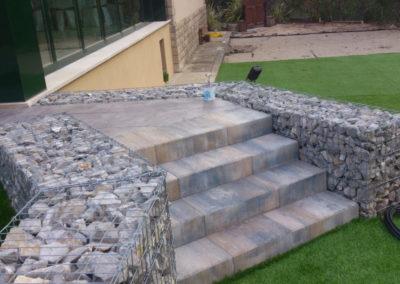 Gaviones, proyectos con gaviones, Muros de gavion Casas de Bodas Montserrat