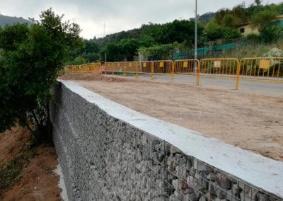 Gavion, proyectos con gaviones, muros de gavion, Carril Bici Sant Just Carril Bici Sant Just