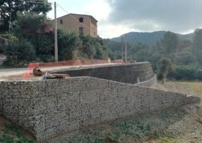 Gavion, proyectos con gaviones, muros de gavion, Carril Bici Sant Just