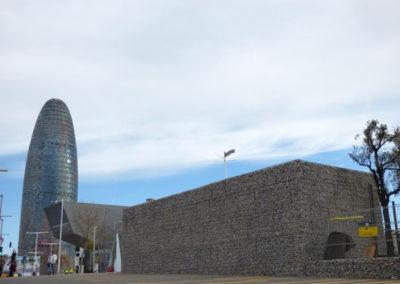 Gaviones, proyecto con gaviones, Parque Glorias Bosquet, Cerramientos con Gavion