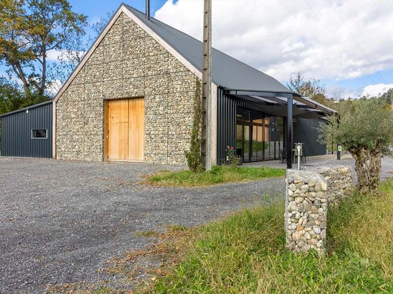 Gaviones, proyecto con gaviones, jaulas de piedra compactadas, Bodegas Francia, revestimiento serie minor