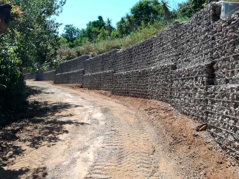 Gaviones, proyecto con gaviones, jaulas compactadas, , muros de gavion para carril bici Sant Just