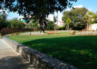 Gaviones, proyectos con gaviones, Parque Sant Just Desvern